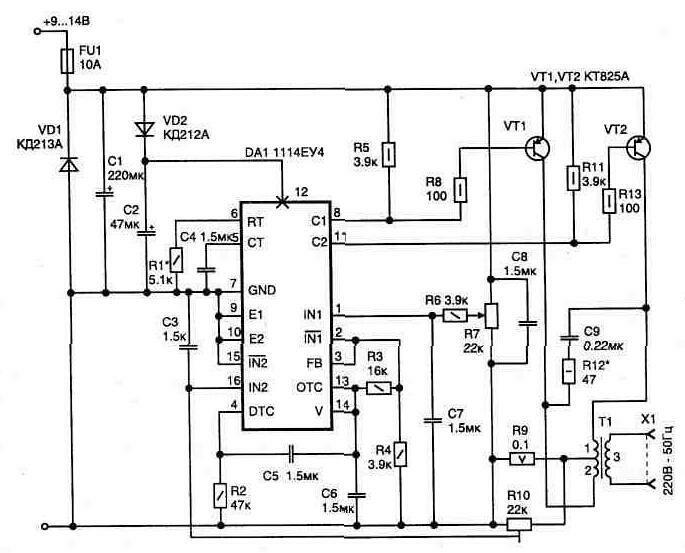 Рис. 1 Электрическая схема